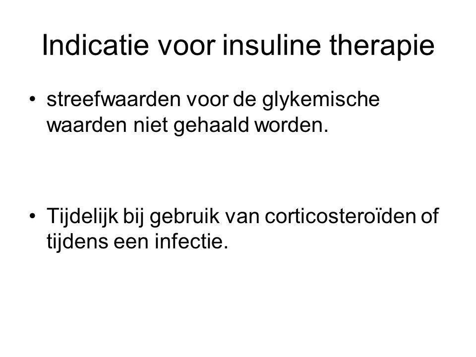 Indicatie voor insuline therapie
