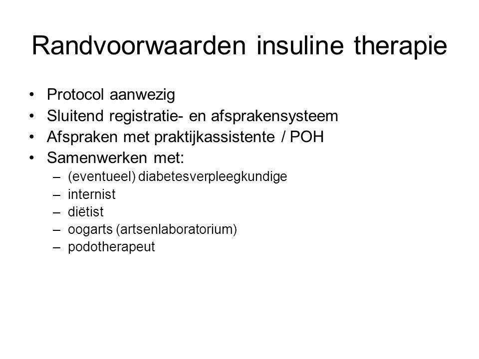 Randvoorwaarden insuline therapie