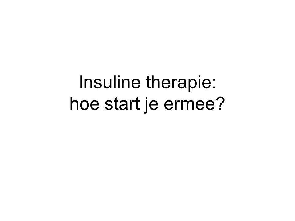 Insuline therapie: hoe start je ermee