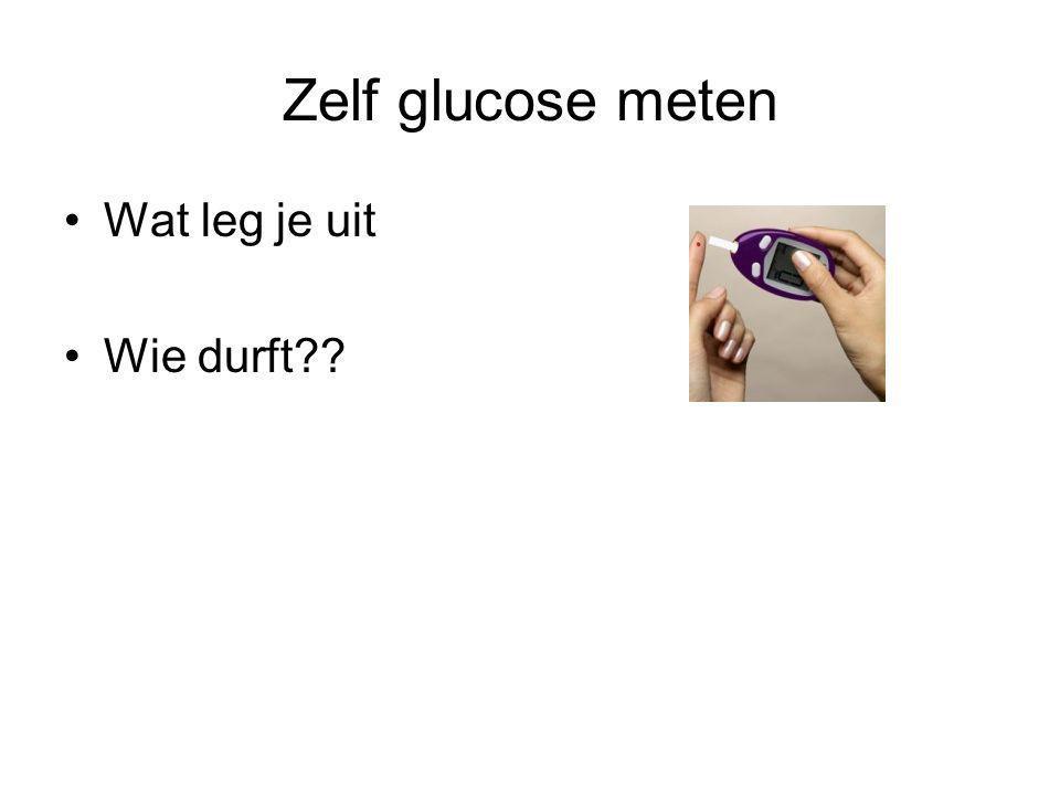 Zelf glucose meten Wat leg je uit Wie durft