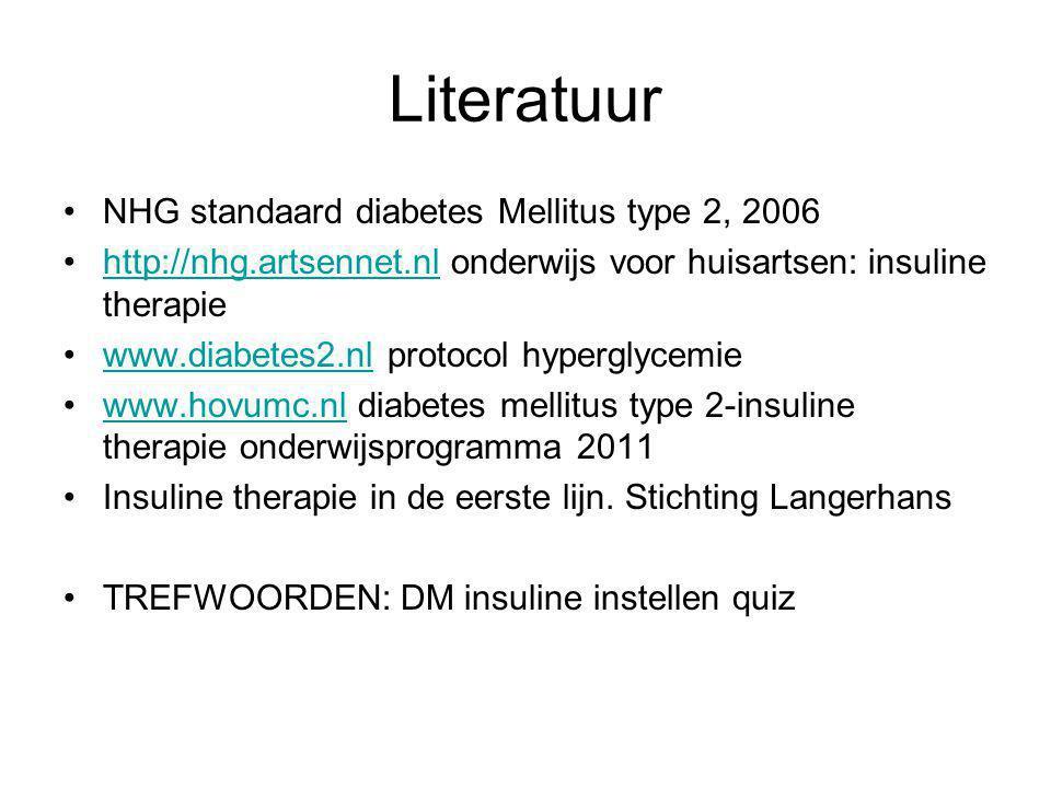 Literatuur NHG standaard diabetes Mellitus type 2, 2006