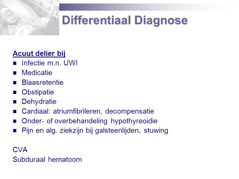 Differentiaal Diagnose