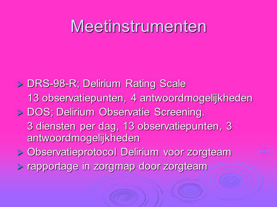 Meetinstrumenten DRS-98-R; Delirium Rating Scale