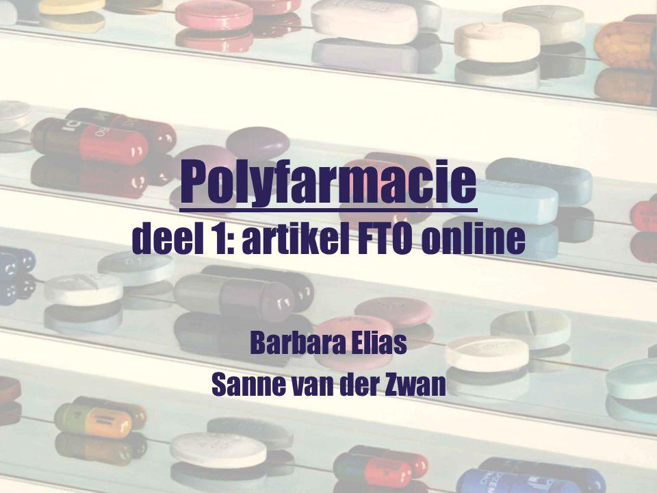 Polyfarmacie deel 1: artikel FTO online
