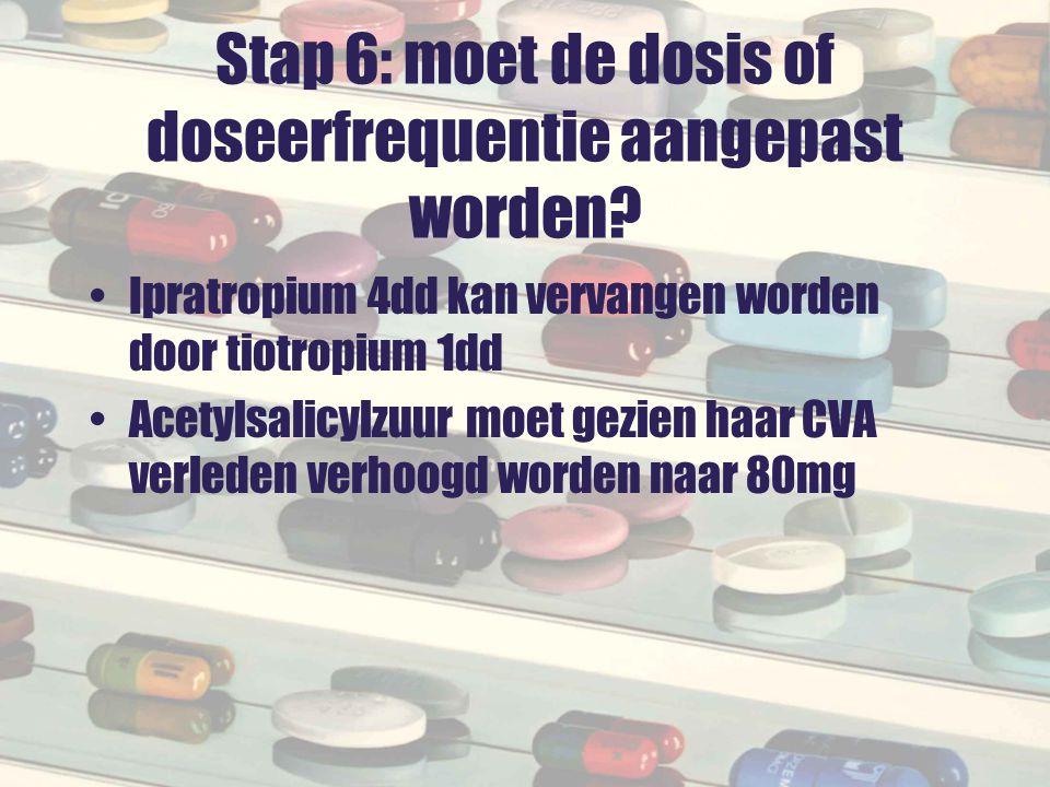 Stap 6: moet de dosis of doseerfrequentie aangepast worden