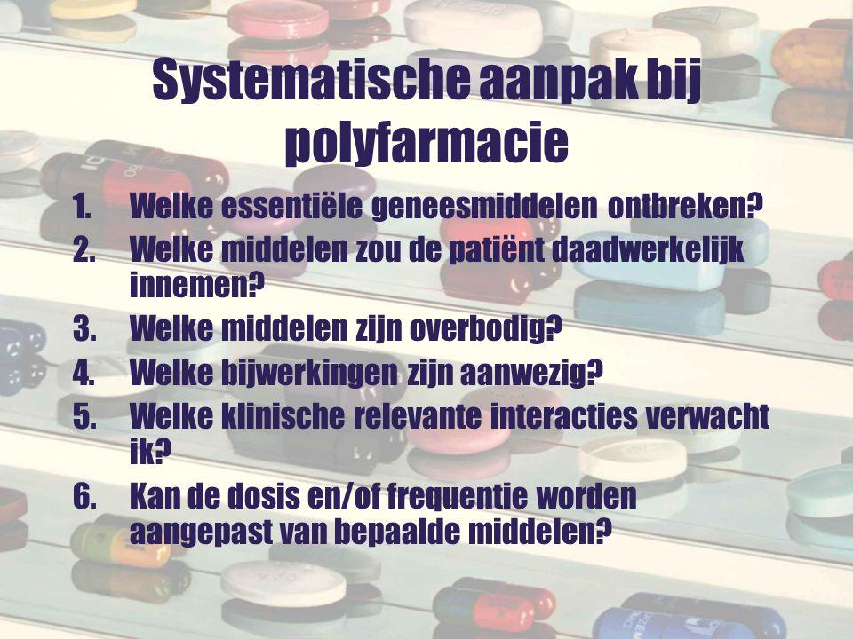 Systematische aanpak bij polyfarmacie