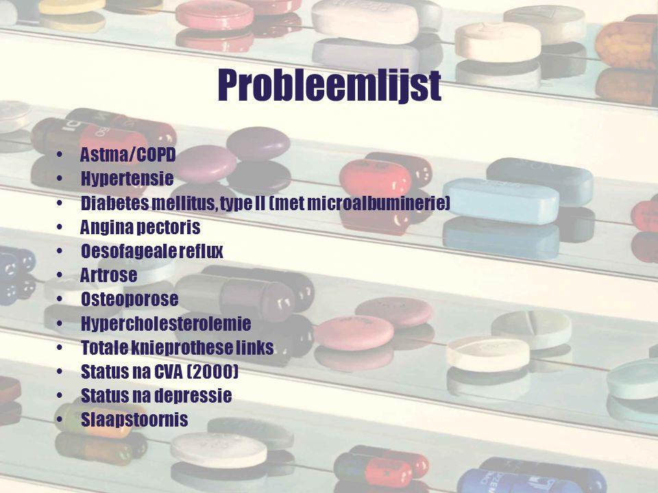 Probleemlijst Astma/COPD Hypertensie