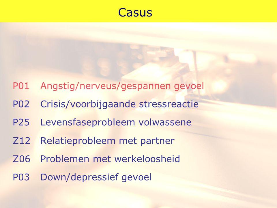 Casus P01 Angstig/nerveus/gespannen gevoel