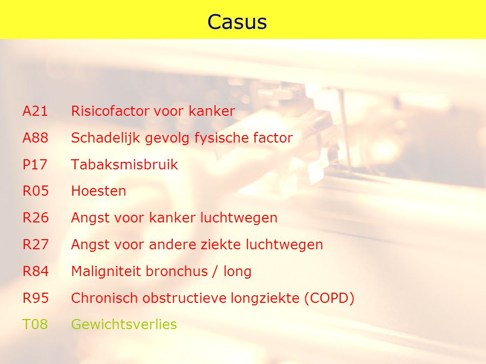 Casus A21 Risicofactor voor kanker