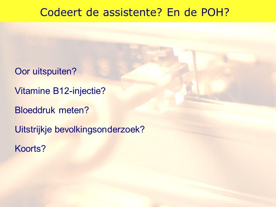 Codeert de assistente En de POH