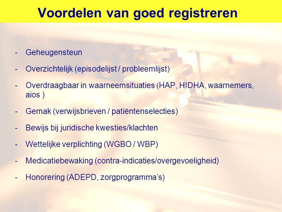 Voordelen van goed registreren