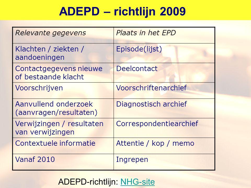 ADEPD-richtlijn: NHG-site
