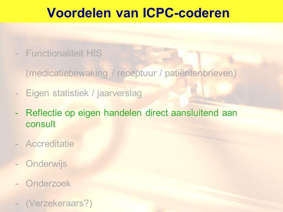 Voordelen van ICPC-coderen