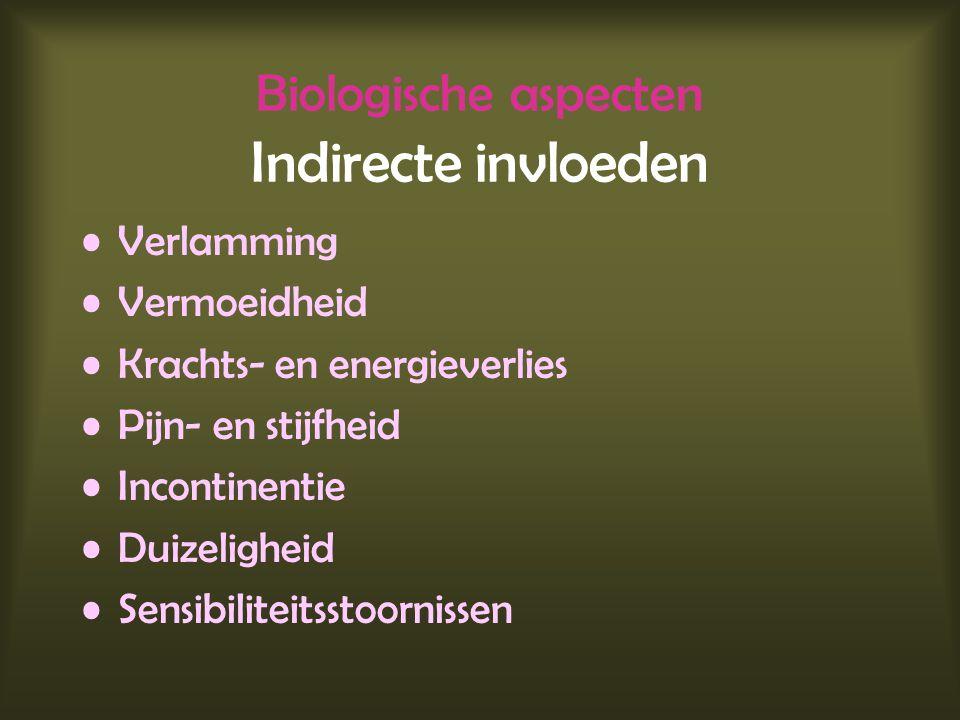Biologische aspecten Indirecte invloeden