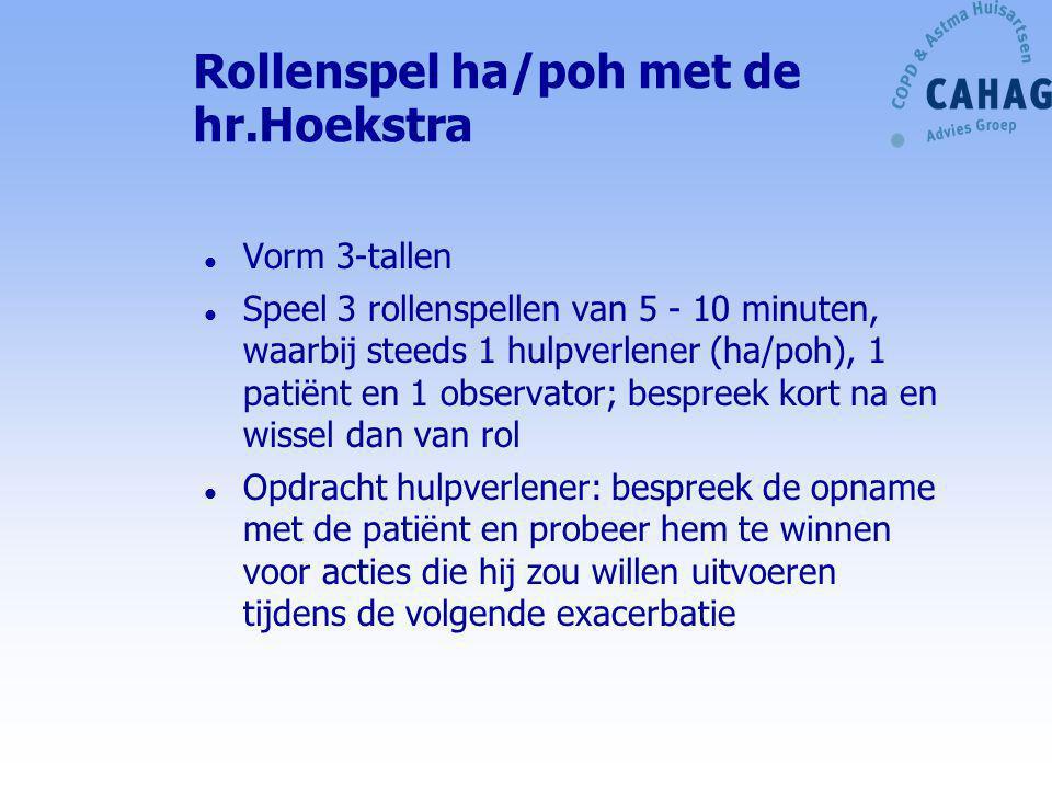 Rollenspel ha/poh met de hr.Hoekstra