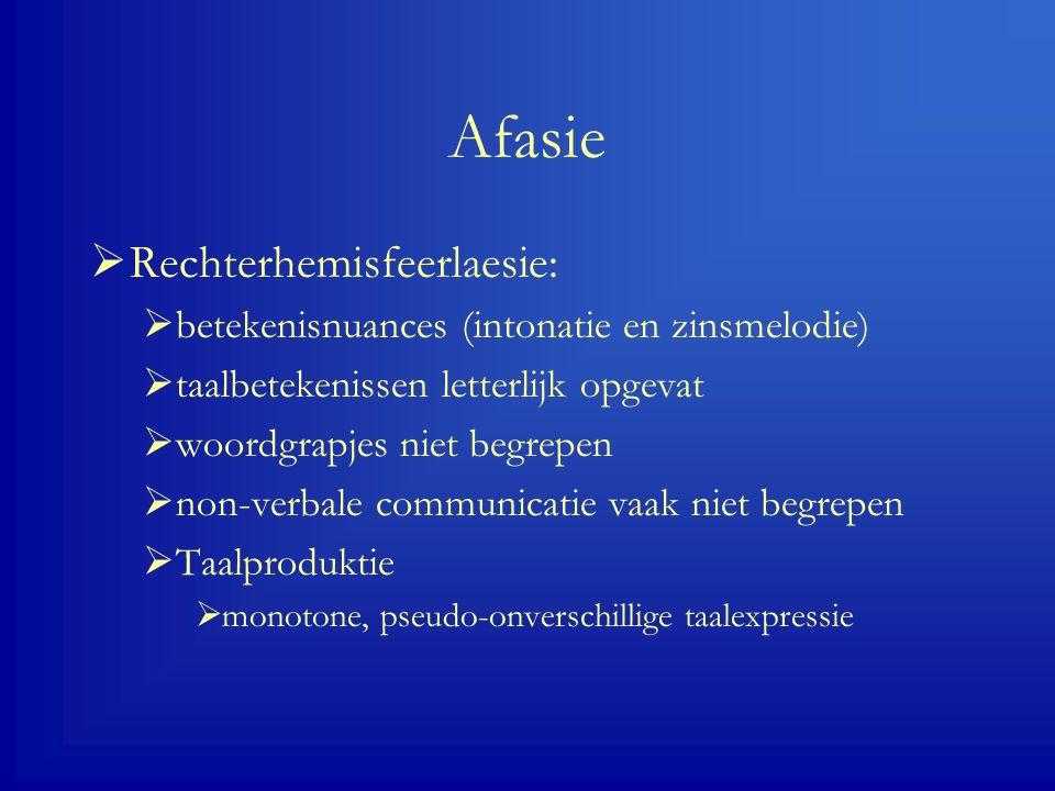 Afasie Rechterhemisfeerlaesie:
