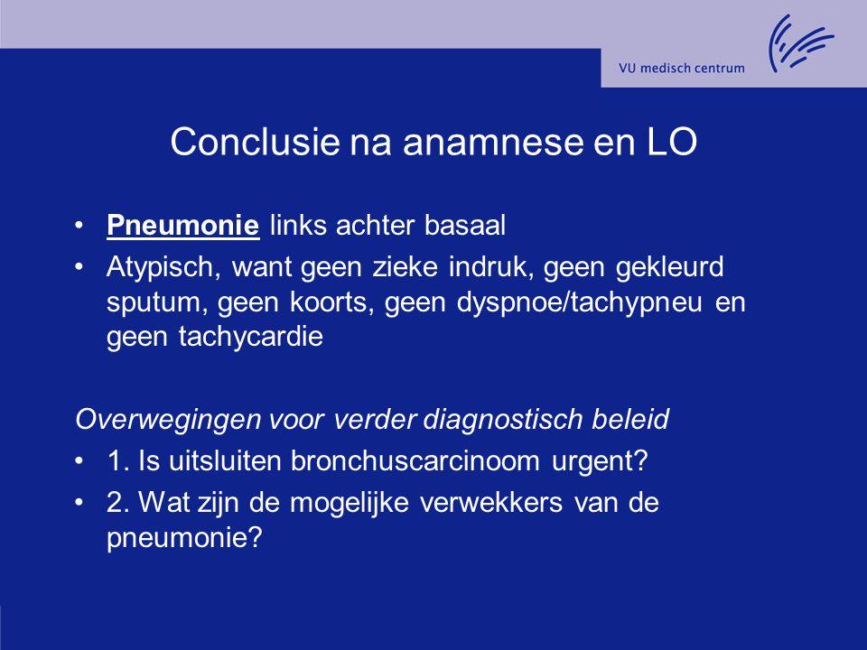 Conclusie na anamnese en LO
