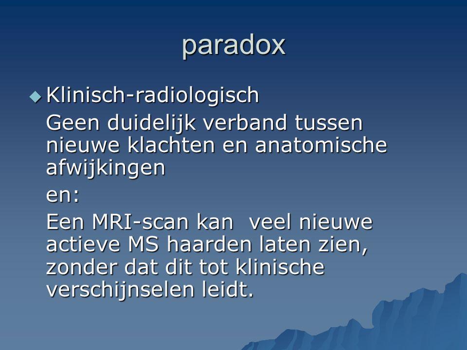 paradox Klinisch-radiologisch