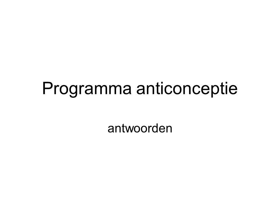 Programma anticonceptie