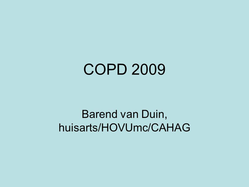 Barend van Duin, huisarts/HOVUmc/CAHAG
