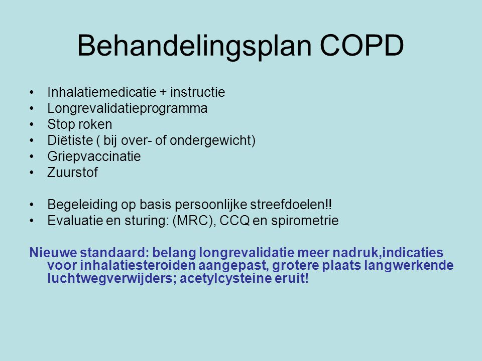 Behandelingsplan COPD