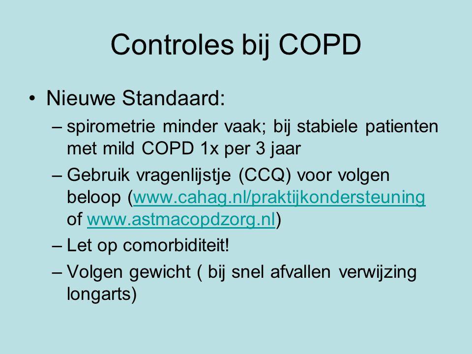 Controles bij COPD Nieuwe Standaard: