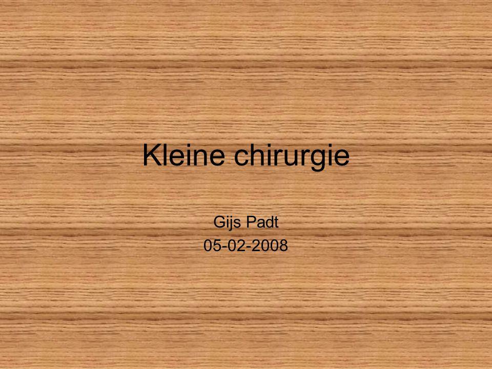 Kleine chirurgie Gijs Padt 05-02-2008