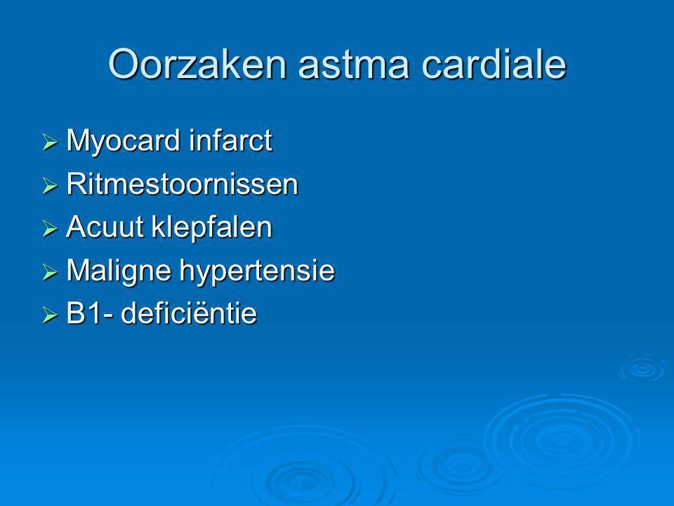 Oorzaken astma cardiale