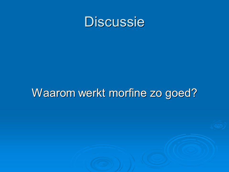 Waarom werkt morfine zo goed