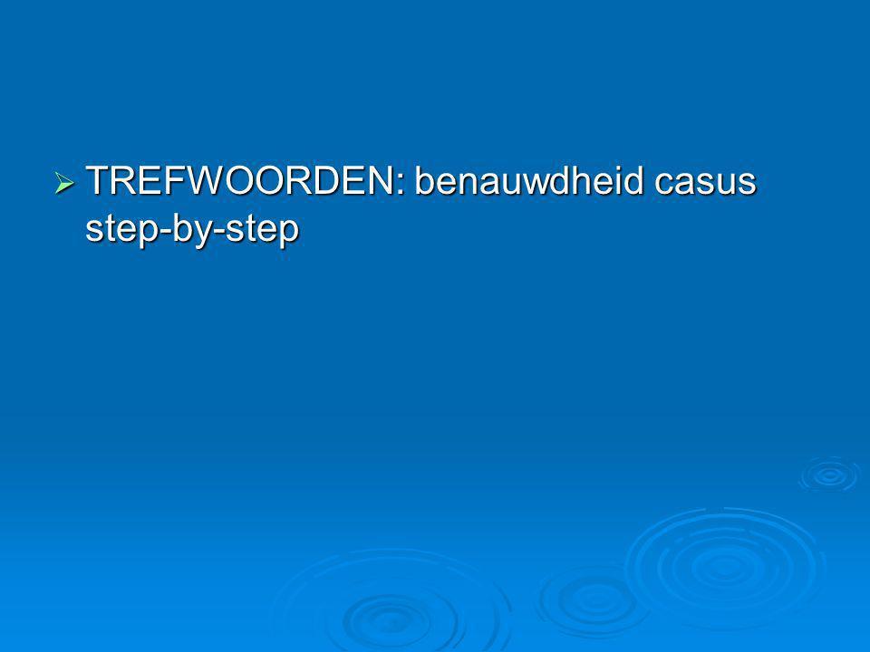 TREFWOORDEN: benauwdheid casus step-by-step
