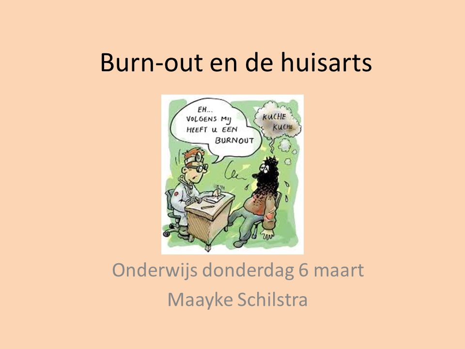 Burn-out en de huisarts