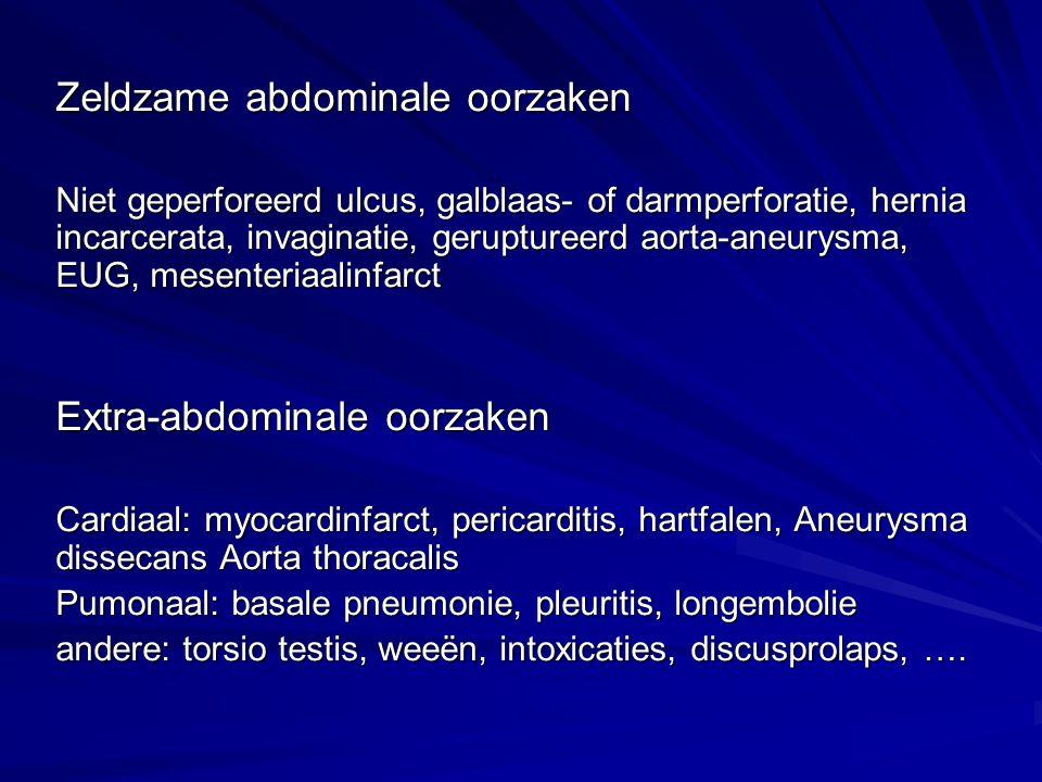 Zeldzame abdominale oorzaken