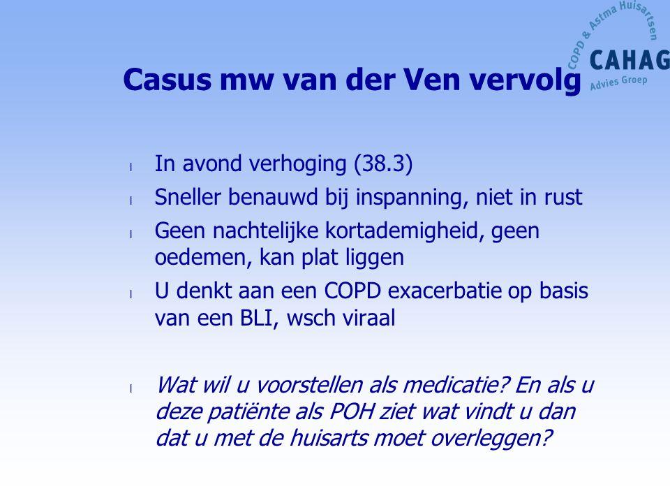 Casus mw van der Ven vervolg