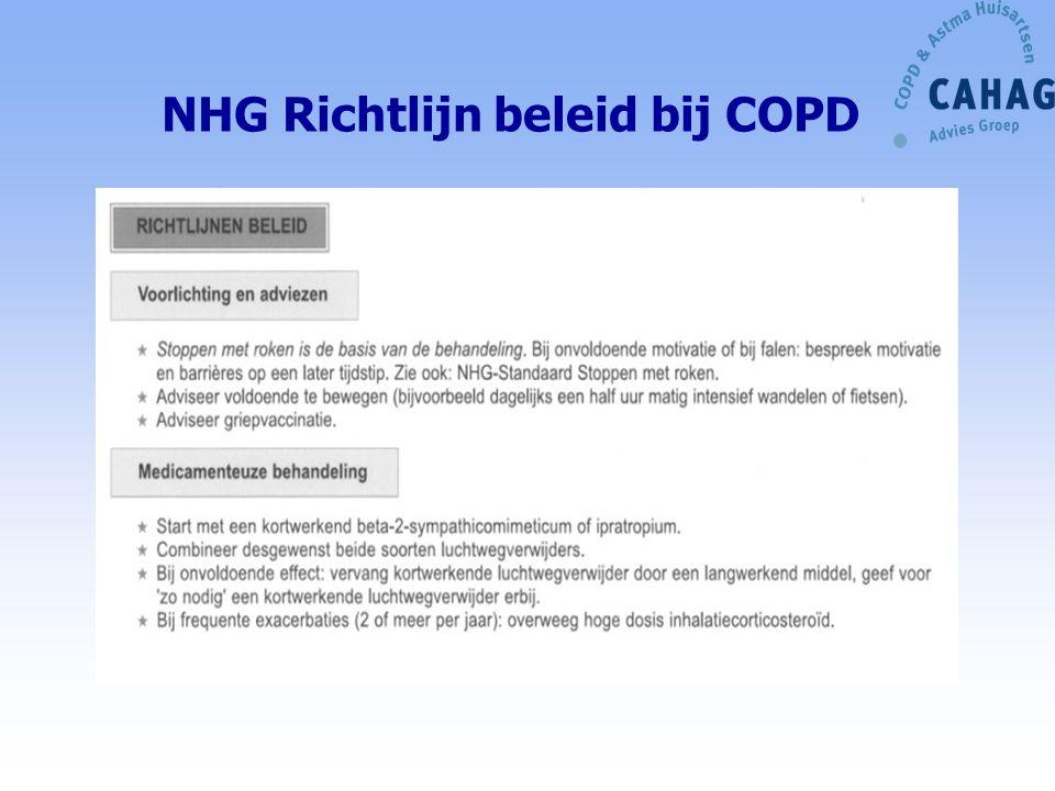 NHG Richtlijn beleid bij COPD