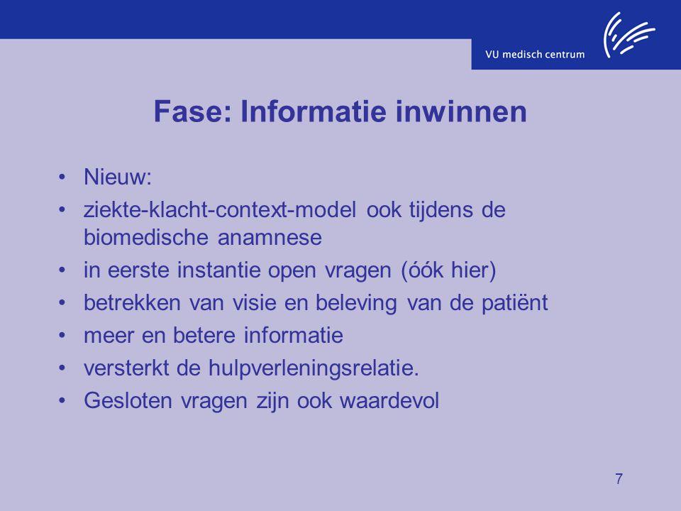 Fase: Informatie inwinnen