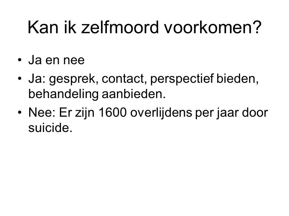 Kan ik zelfmoord voorkomen