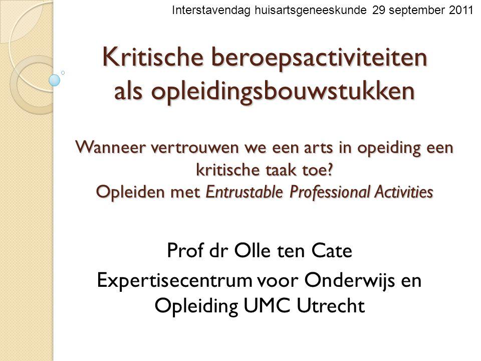 Expertisecentrum voor Onderwijs en Opleiding UMC Utrecht