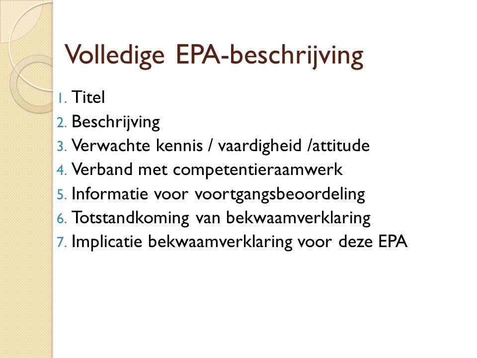 Volledige EPA-beschrijving