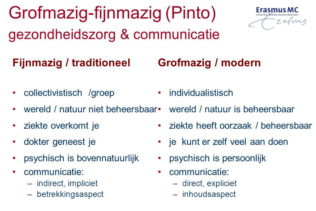 Grofmazig-fijnmazig (Pinto) gezondheidszorg & communicatie