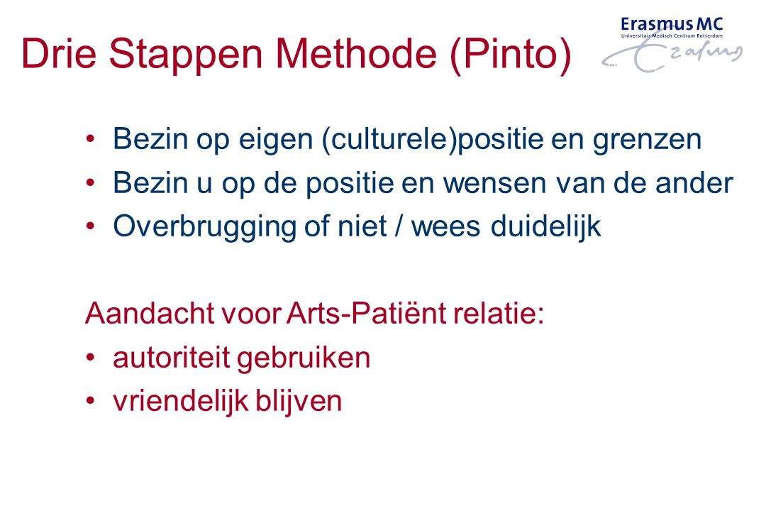 Drie Stappen Methode (Pinto)