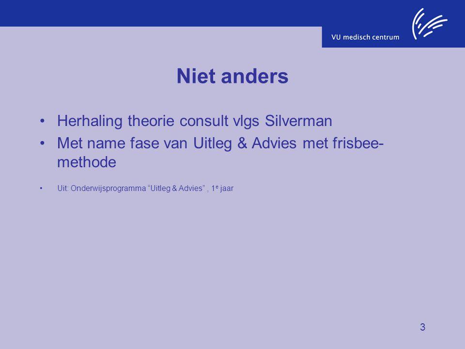 Niet anders Herhaling theorie consult vlgs Silverman
