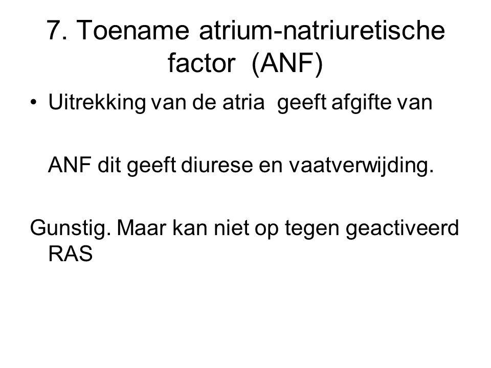 7. Toename atrium-natriuretische factor (ANF)
