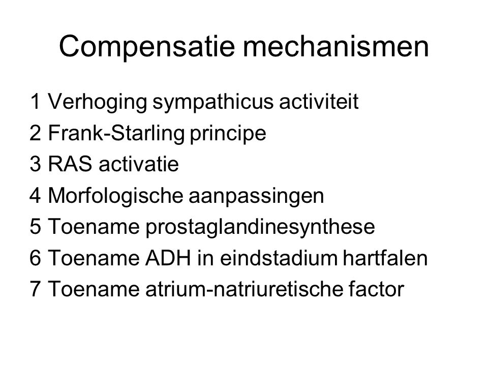 Compensatie mechanismen