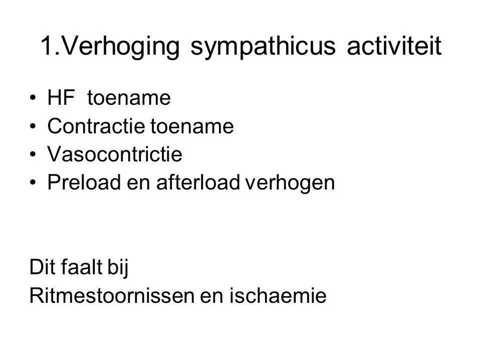 1.Verhoging sympathicus activiteit