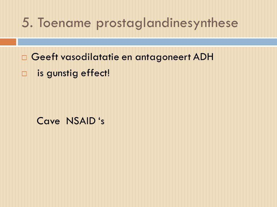 5. Toename prostaglandinesynthese