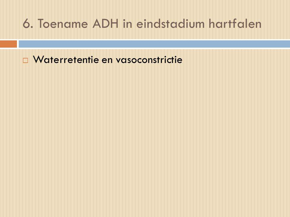 6. Toename ADH in eindstadium hartfalen
