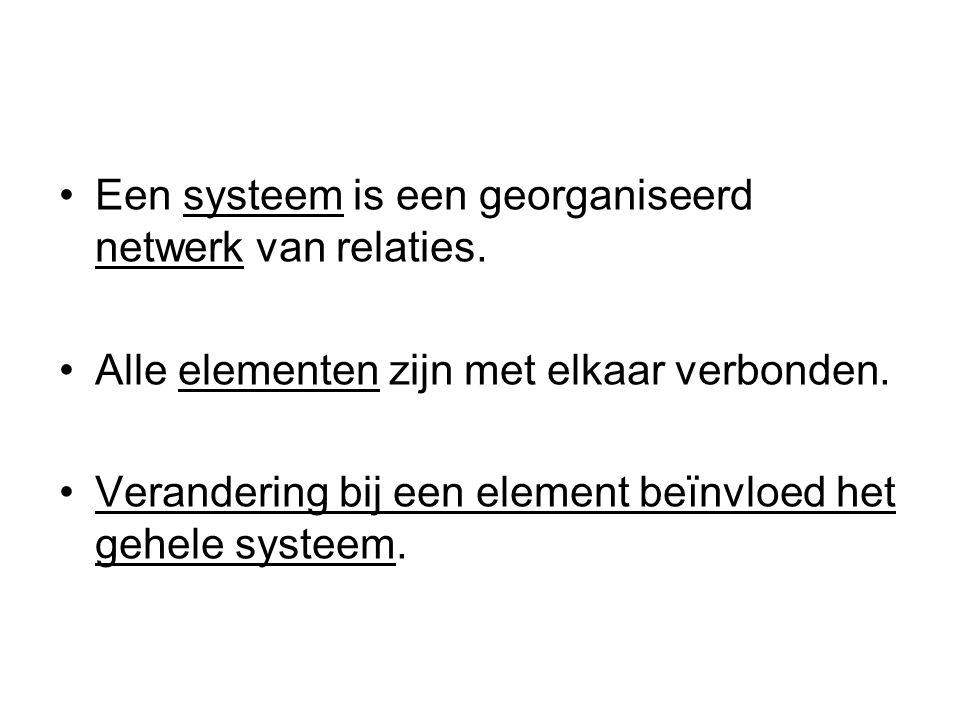 Een systeem is een georganiseerd netwerk van relaties.