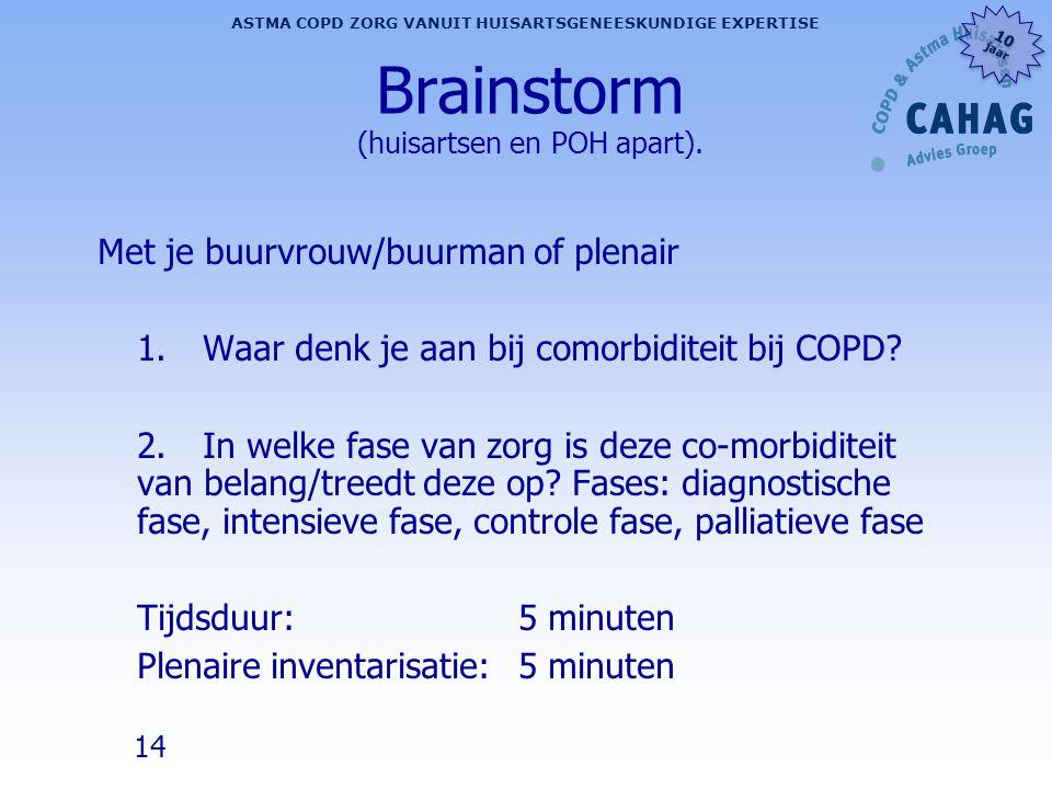 Brainstorm (huisartsen en POH apart).