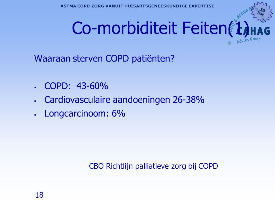 Co-morbiditeit Feiten(1)