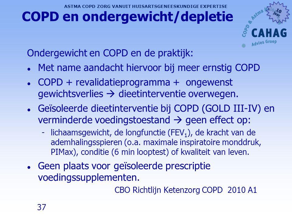 COPD en ondergewicht/depletie